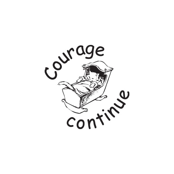 tampon n°70: Courage continue 25x25 mm