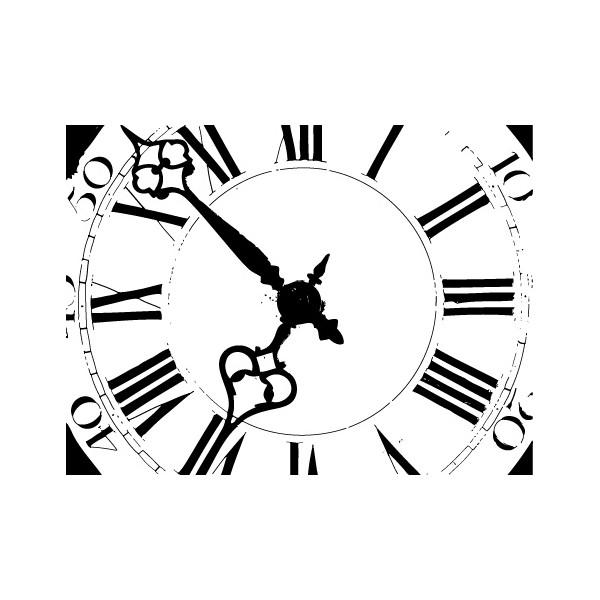 tampon Horloge n°1