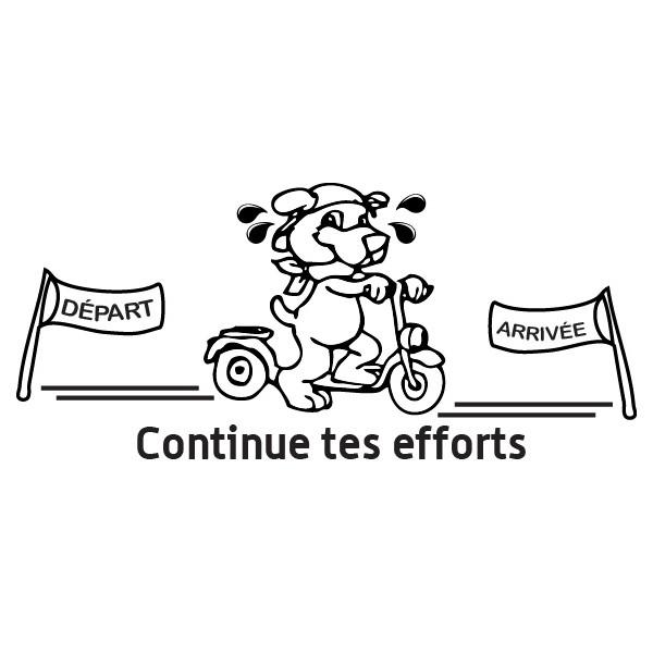 Tampon en bois Continue tes efforts n°110