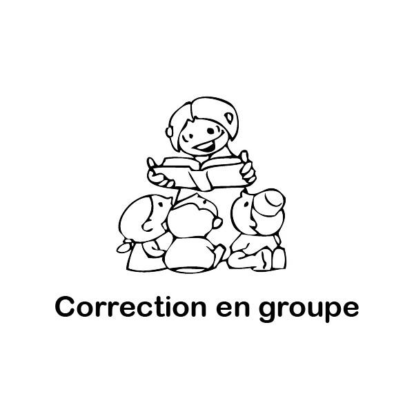 Tampon en bois Correction en groupe n°177