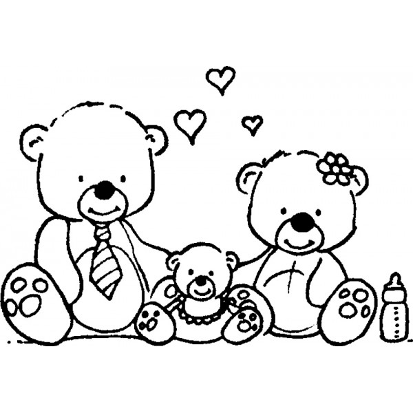 tampon Famille nounours
