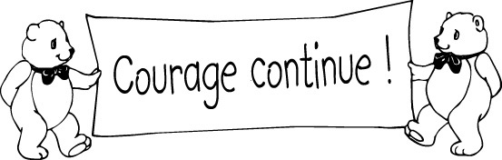 tampon n°18: Courage continue