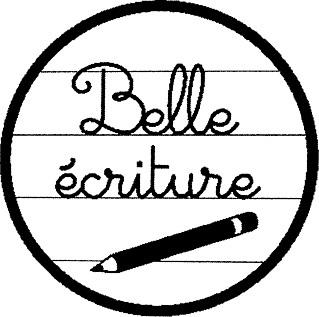tampon n°201: Belle écriture