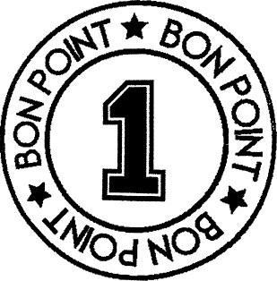 tampon n°202: Bon point