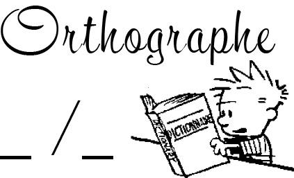 tampon n°248: Orthographe