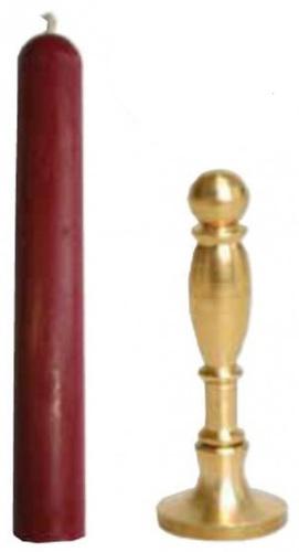 Kit cachet à cire avec bâton de cire ECO
