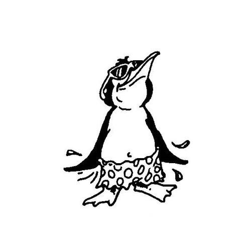 tampon Pingouin au soleil
