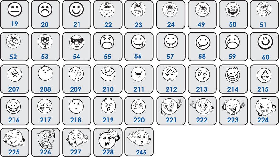 Pack 10 smileys en bois au choix