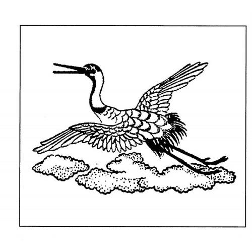 tampon Cigogne d'une estampe japonaise
