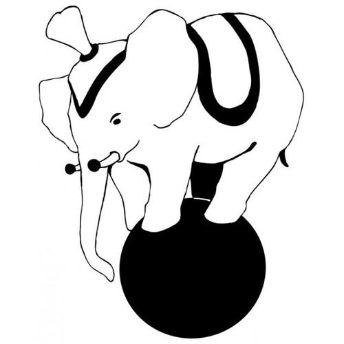 tampon éléphant de cirque n°2