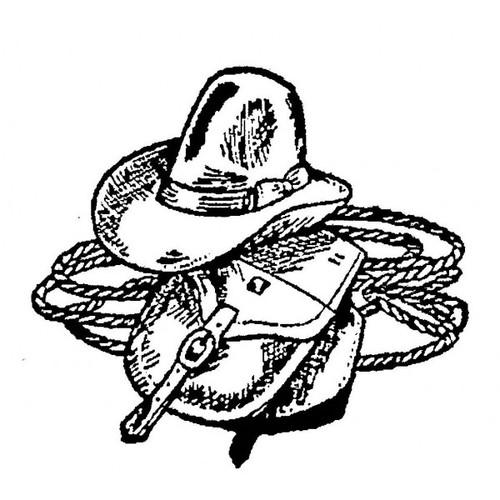 Tampon Equipement de cow-boy