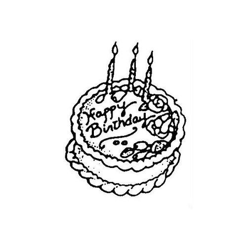 tampon Gâteau d'anniversaire