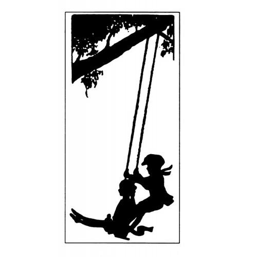 tampon Gravure ancienne : balançoire