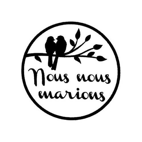 tampon Nous nous marions n°2