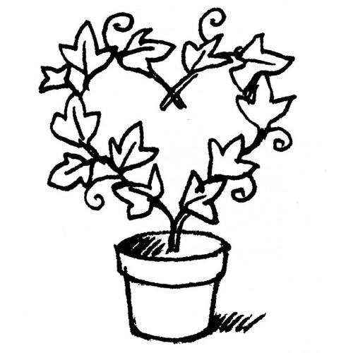 tampon Plante en pot