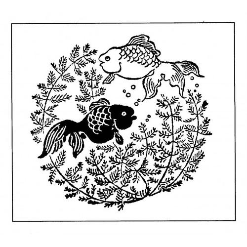 tampon Poisson estampe japonaise n°2