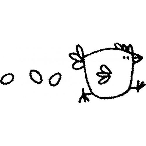 tampon Poule aux oeufs