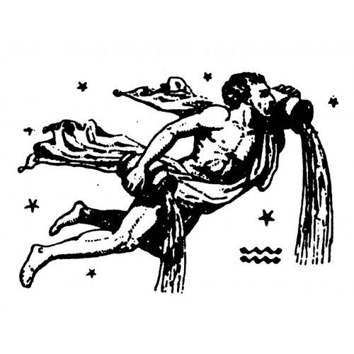 tampon Signe du zodiaque verseau