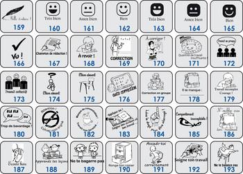 Pack 12 smileys ET évaluations au choix