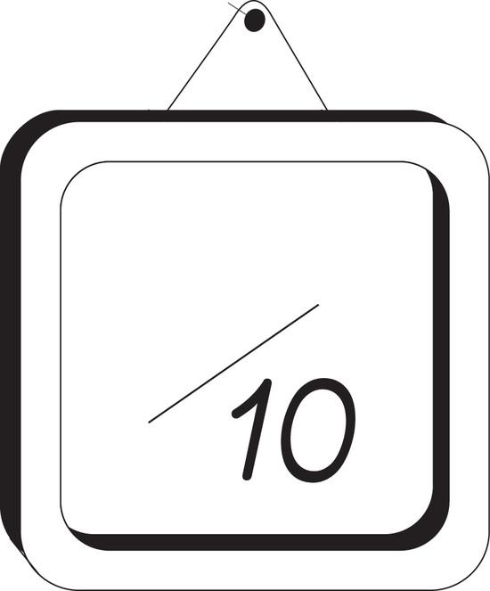 Tampon en bois Note sur 10 n°10