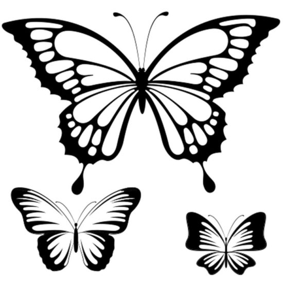 Tampon tatouage éphémère Papillons