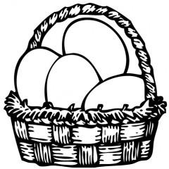 tampon Panier oeufs de Pâques