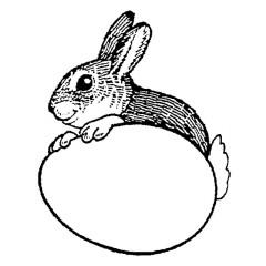 tampon Lapin de Pâques n°2