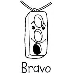 Tampon en bois Bravo n°105