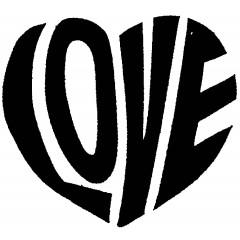 Tampon en bois Cœur love