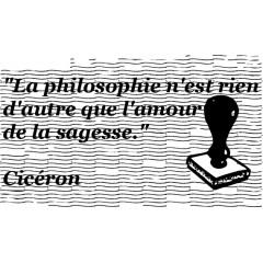 "tampon Dicton : ""La philosophie..."""