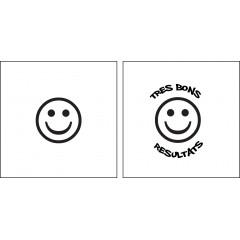 Tampon en bois smiley sourire personnalisé
