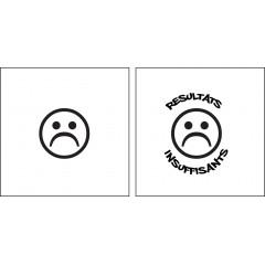 Tampon en bois smiley triste personnalisé