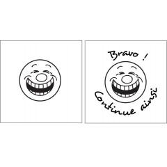 Tampon en bois smiley D n°50 personnalisé