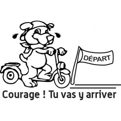 tampon n°111: Courage 40x27 mm
