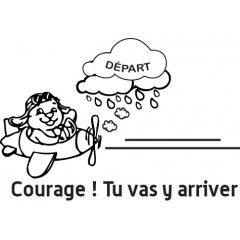 tampon n°115: Courage 38x26 mm