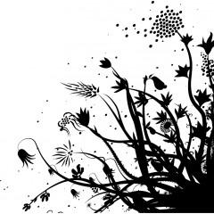 tampon Fleurs au vent