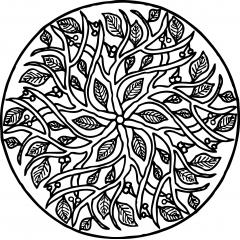 tampon Mandala feuilles