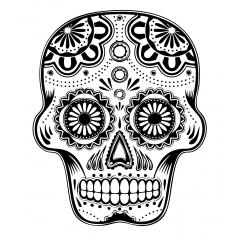 tampon Mandala skull / crane