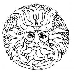 tampon Mandala tête de Zeus