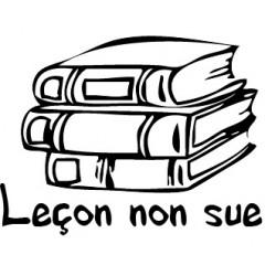 Tampon en bois Leçon non sue n°152