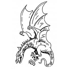 Tampons en bois Dragon n°1