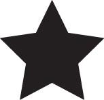 Tampon en bois Une étoile n°140