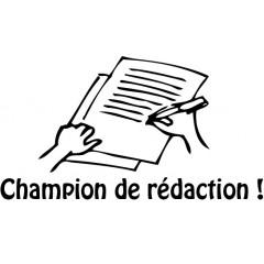 tampon n°167: Champion de rédaction 44x24 mm
