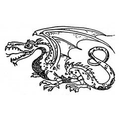 Tampons en bois Dragon n°4