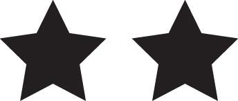 Tampon en bois Deux étoiles n°141