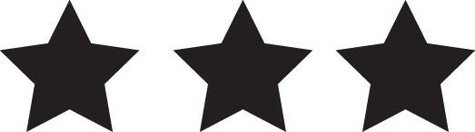 Tampon en bois Trois étoiles n°142