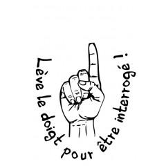 Tampon en bois Lève le doigt n°184