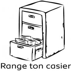 Tampon en bois Range ton casier n°190