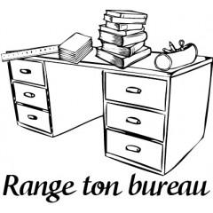 Tampon en bois Range ton bureau n°200