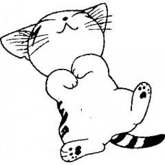 tampon Chaton endormi